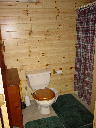 Bathroom on lower walkout level of Alpine Snow Cabin. Featuring fresh quality towels and linens.